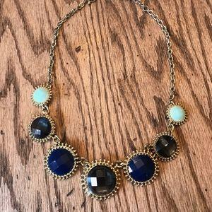 Francesca's Collection Blue Statement Necklace